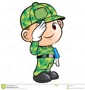 288x307 Boy Clipart Soldier Salute