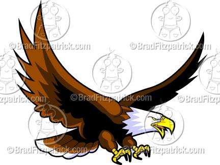 432x324 Cartoon Eagle Logo Clipart