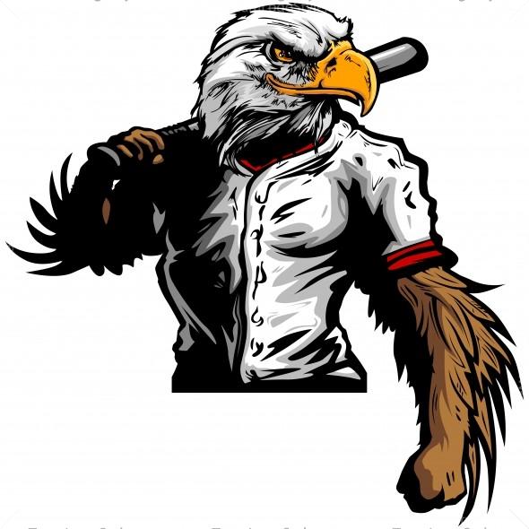 590x590 Eagle Baseball Player Clip Art
