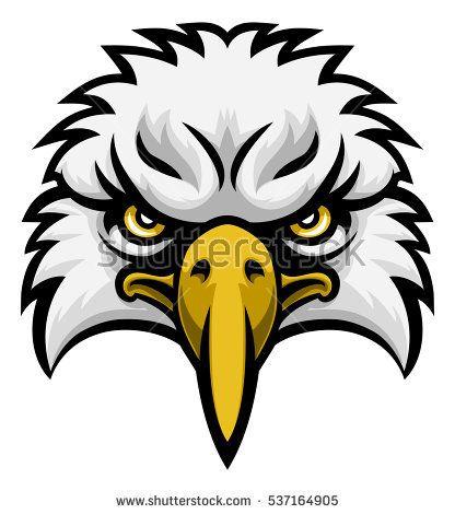 416x470 Nice Eagle Face Clipart Mascot
