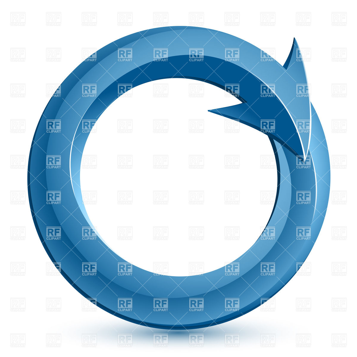 1200x1200 Blue Circular Arrow Royalty Free Vector Clip Art Image