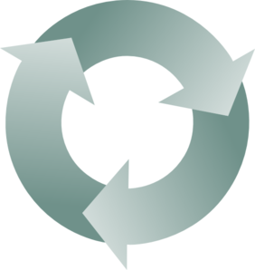 282x298 Circular Recycle Arrows Clip Art