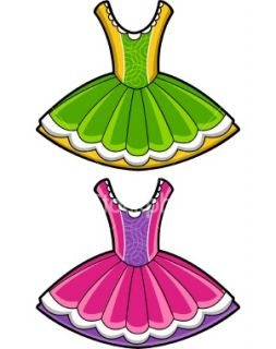 253x320 Ballerina Dress Clipart