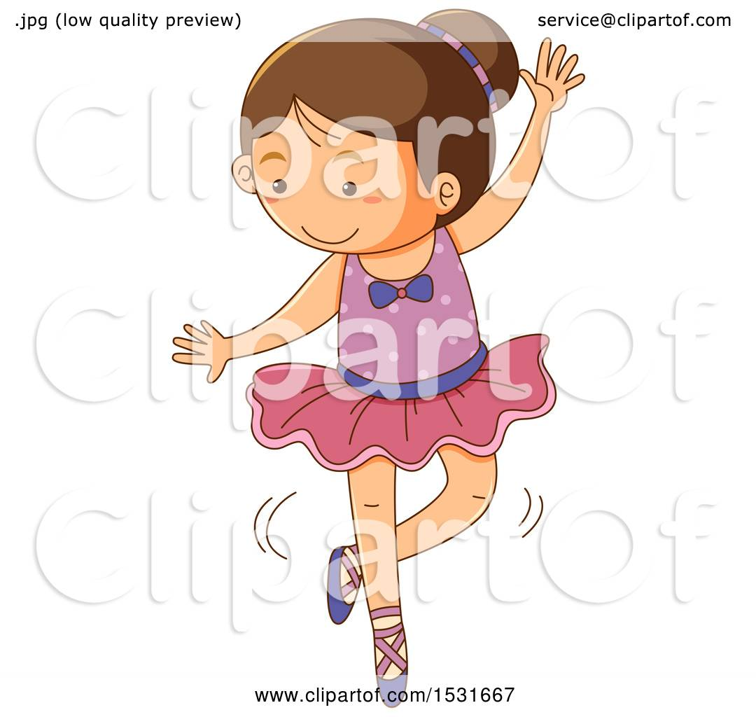 1080x1024 Clipart Of A Girl Ballerina Dancing