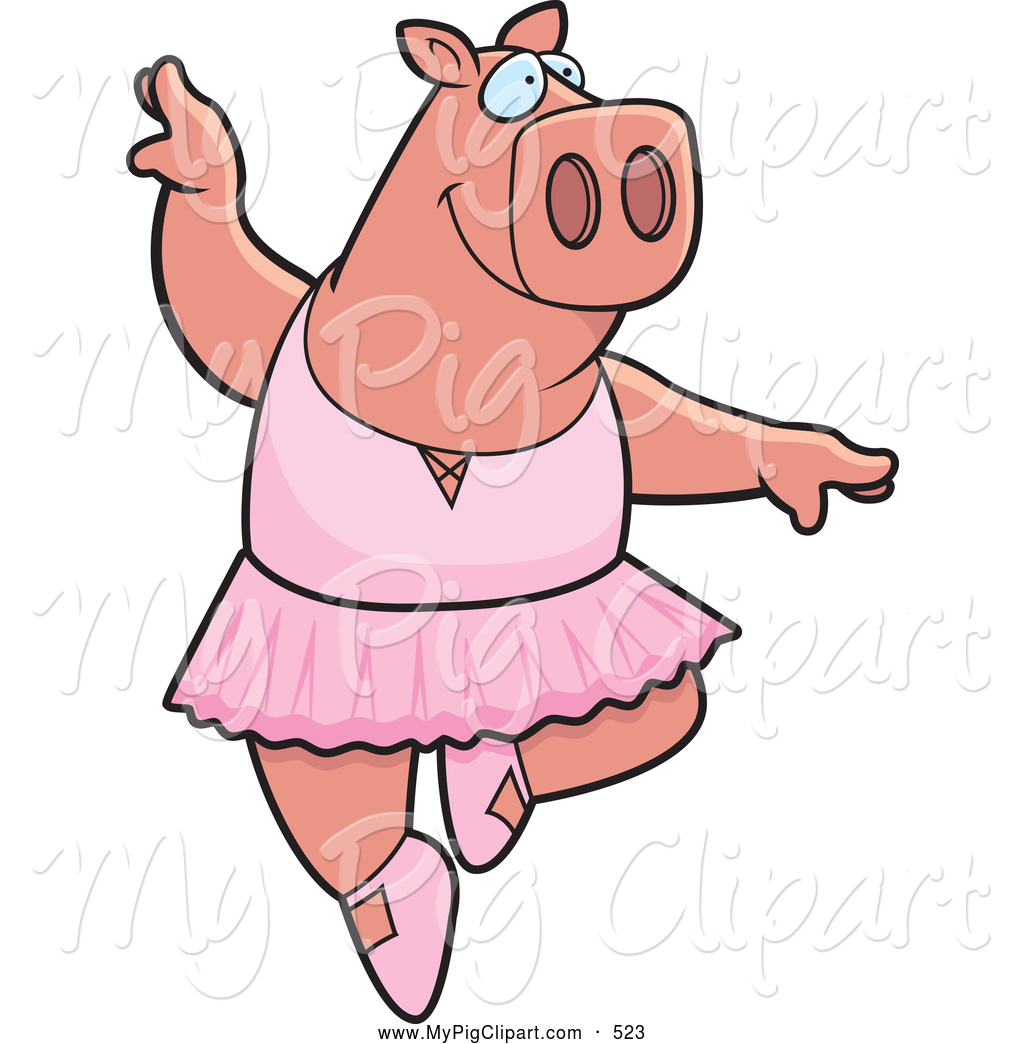 1024x1044 Swine Clipart Of A Goofy Ballerina Pig Dancing And Jumping By Cory