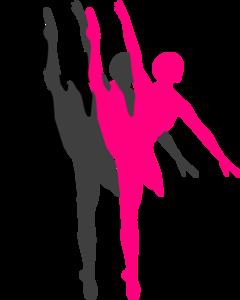 240x300 Triple Ballet Dancer Silhouette Clip Art