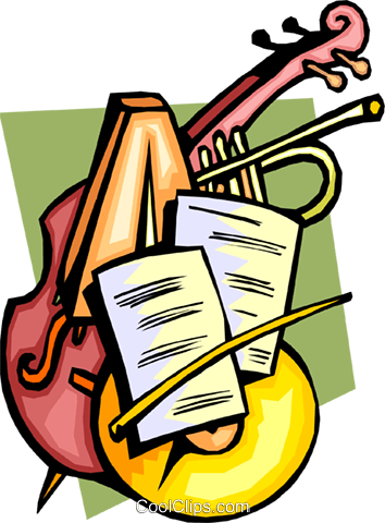 354x480 Classical Music With Instruments Royalty Free Vector Clip Art