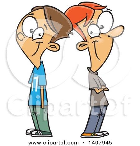 450x470 Royalty Free (Rf) Clip Art Illustration Of Two Talkative Cartoon