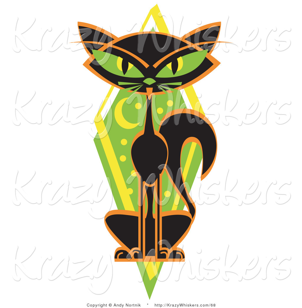 1024x1044 Critter Clipart A Mysterious Thin Black Cat Sitting In Front