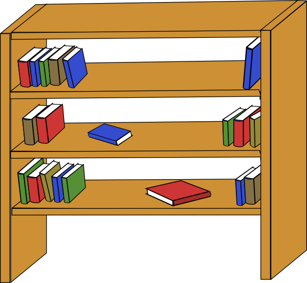 600x553 Furniture Library Shelves Books Clip Art At Clkercom, Classroom