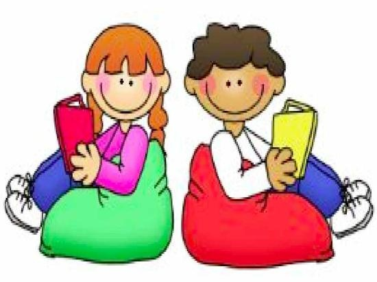 550x412 Boy And Girl Reading Clipart
