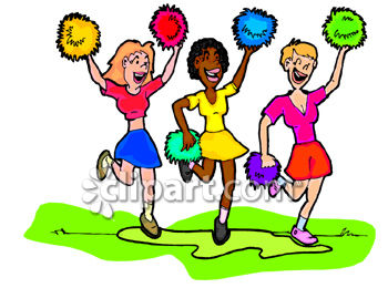350x260 Cheerleading Squad Clip Art
