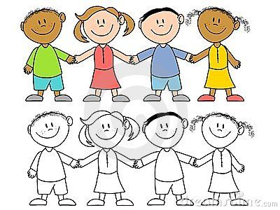 400x300 Children Holding Hands Clipart Black And White Cliparts