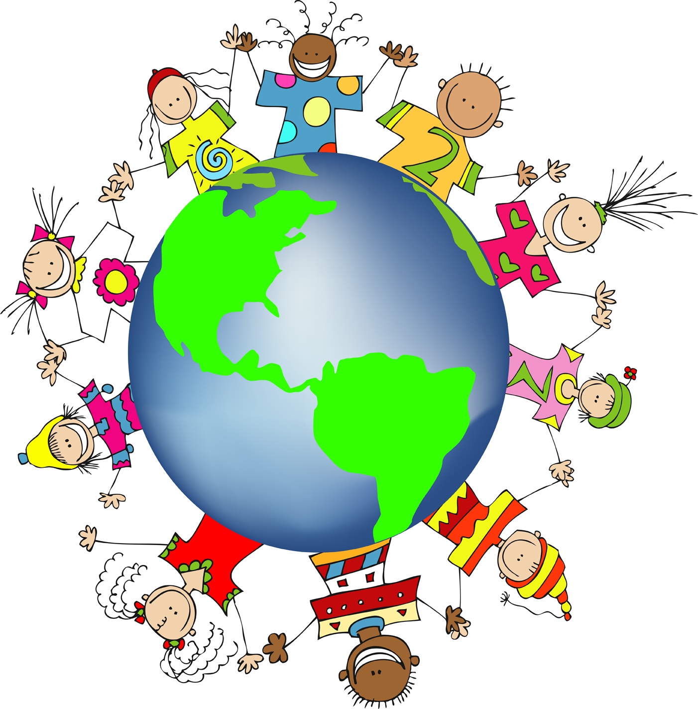 1402x1423 Free Clipart Of The World