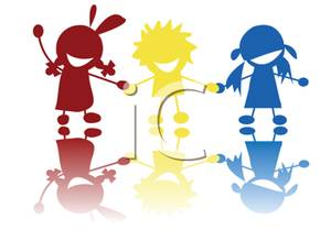 300x219 Valuable Kids Holding Hands Children Wallpaper Wall Decor Cartoon
