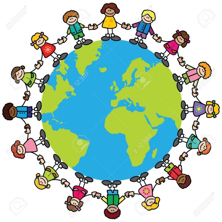 768x768 Children Around The World Clipart World Travel Clipart Clipart