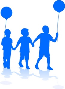 217x300 Children Holding Hands Color Clipart