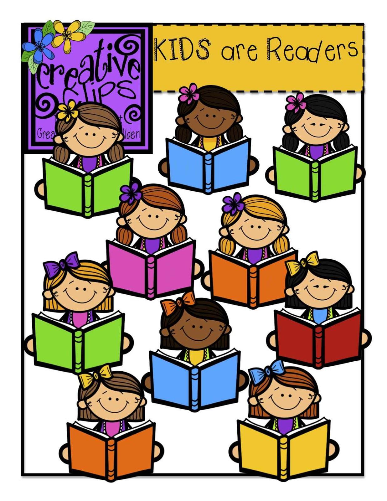 1236x1600 Exclusive Children Reading Clipart Kids Line Art Bundle Clipart