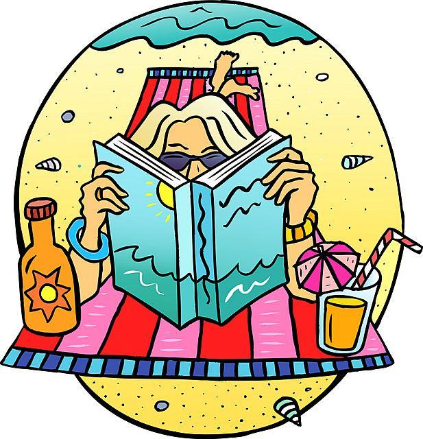 617x640 Reading On The Beach Clipart Amp Reading On The Beach Clip Art