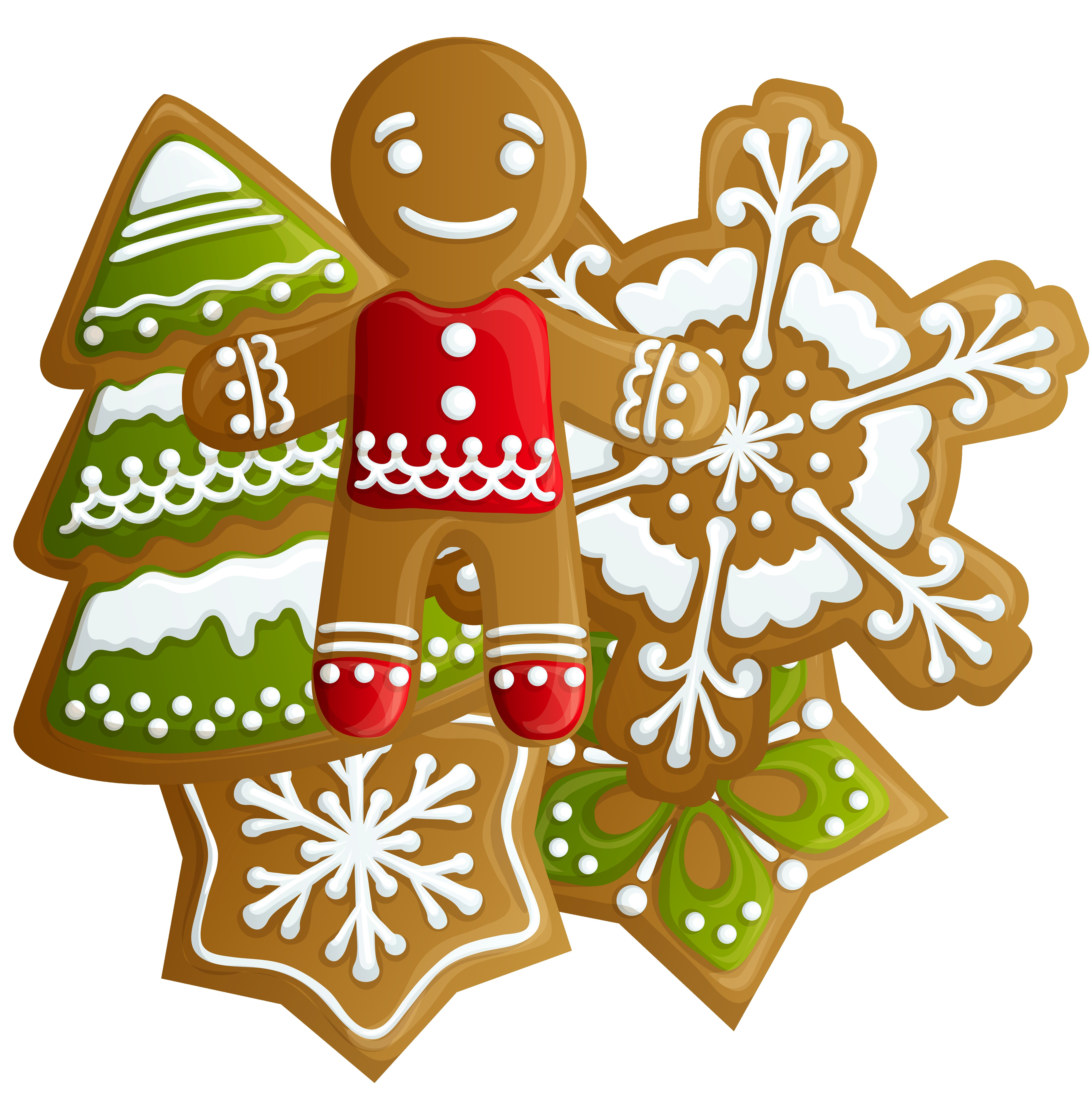 4836x4871 2017 Christmas Cookies Clipart Free Endear Cookie