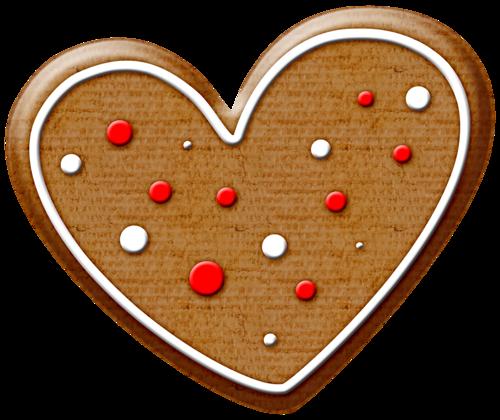500x420 Christmas Gingerbread Heart Cookie Clip Art Clip Art