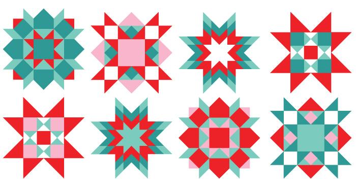 700x366 Christmas Quilt Clipart