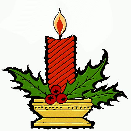 424x422 Candle Clipart Christmas Stuff