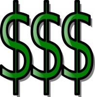 196x200 Dollar Bills Clip Art