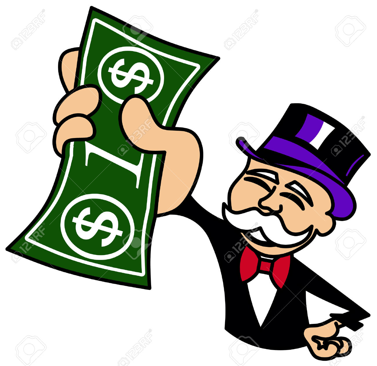 1300x1260 5 Dollar Bill Monopoly Clipart