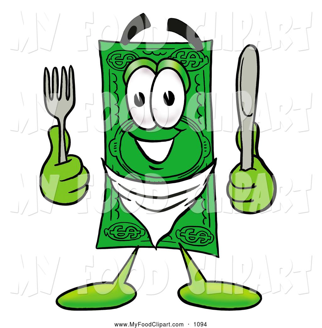 1024x1044 Food Clip Art Of A Happy Dollar Bill Mascot Cartoon Character