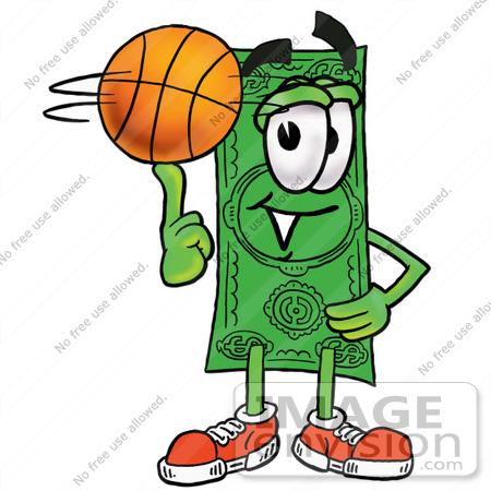 450x450 Clip Art Graphic Of A Flat Green Dollar Bill Cartoon Character