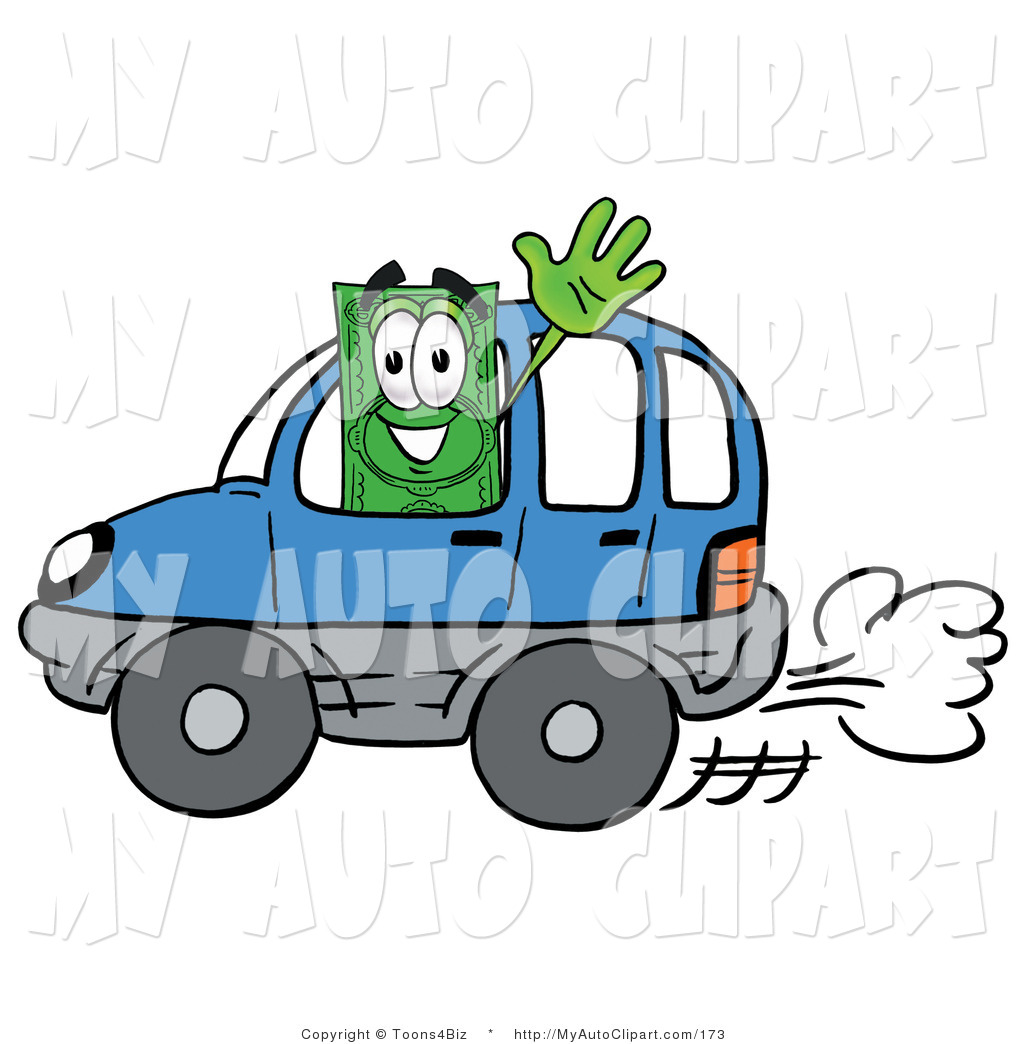 1024x1044 Cliprt Of Green Dollar Bill Mascot Cartoon Character Driving