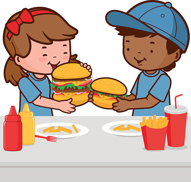 612x584 Collection Of Kids Eating Junk Food Clipart High Quality