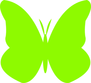 298x273 Butterfly Clipart Lime Green