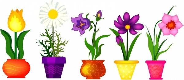 600x262 Clipart Spring Flowers