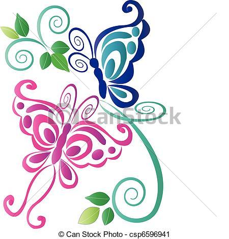 450x470 Floral Butterflies Clipart, Explore Pictures