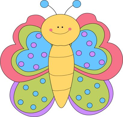 410x390 Young Butterfly Clipart