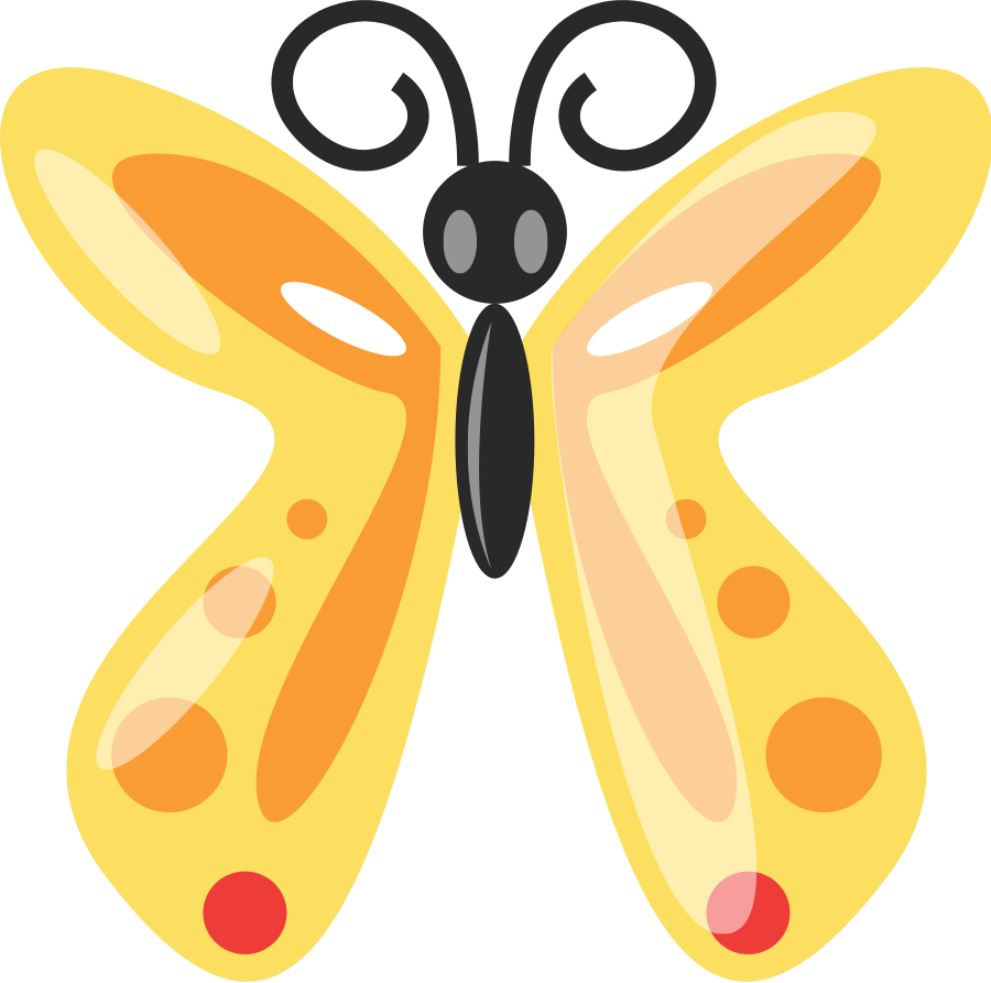 900x893 Butterfly Clip Art Black And White
