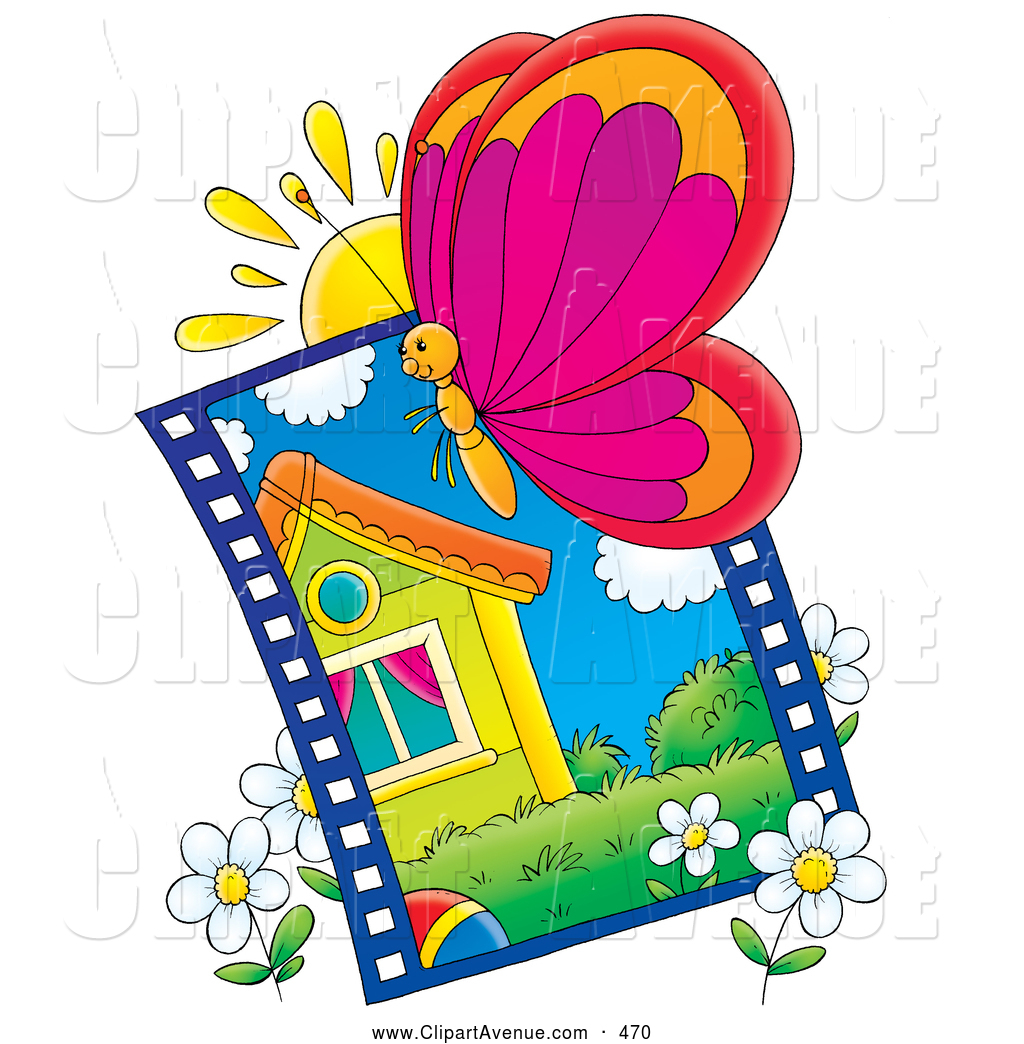 1024x1044 Avenue Clipart Of A Butterfly Flying By A Picture Of A Yellow