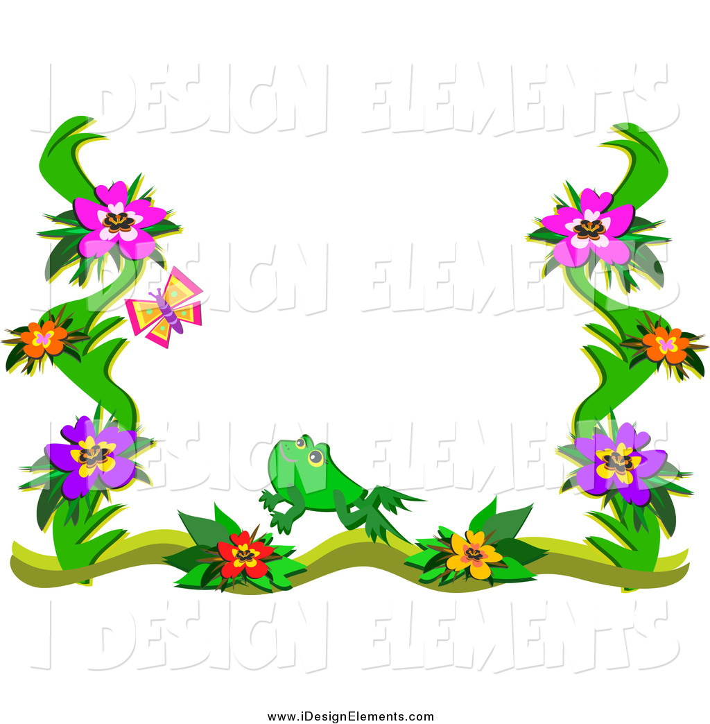 1024x1044 Butterfly Border Clipart
