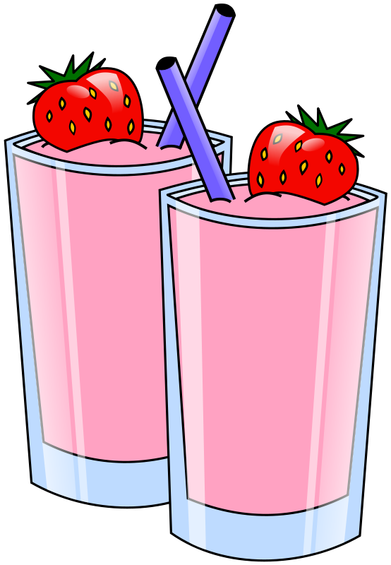 554x800 Strawberry Smoothies Clip Art