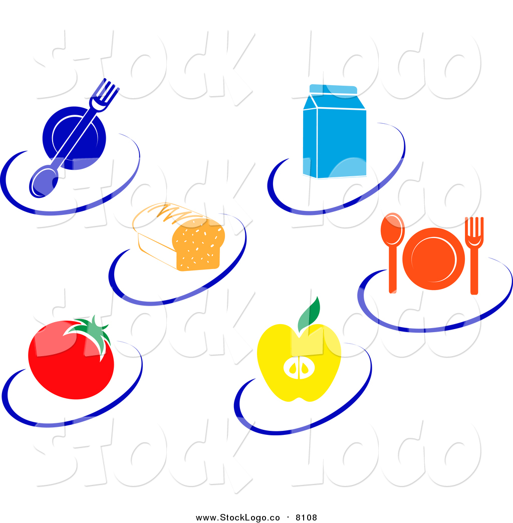 1024x1044 Vector Clipart Of Nutrition Logos Of Food Items And Swooshes By