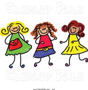 Clipart Of Friends Together