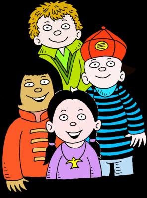 296x400 Image Four Children Multiracial