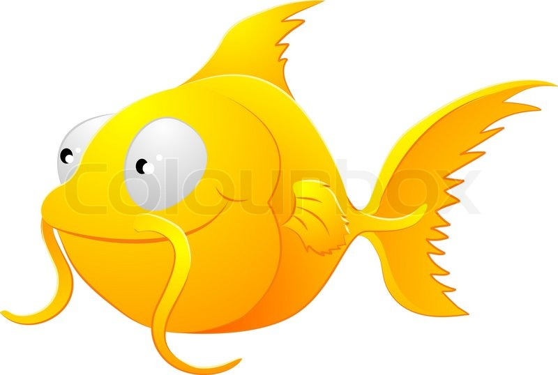 800x538 A Clipart Illustration Of A Cute Lovable Goldfish Type Fish