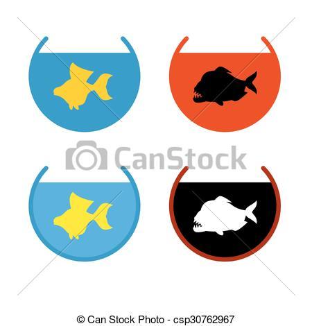 450x470 Set Of Aquarium Fish. Goldfish In An Aquarium. Fish Fulfills