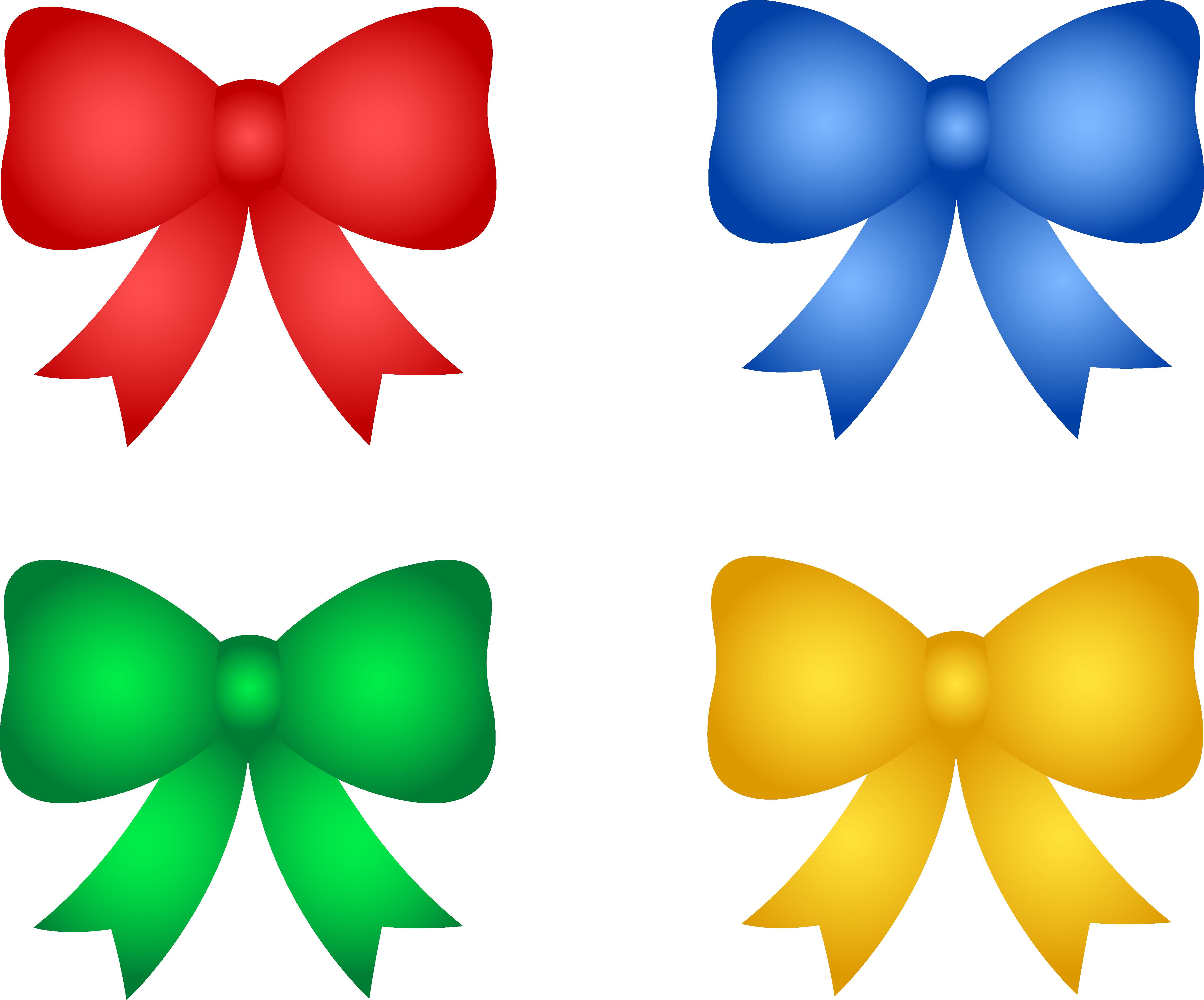 5095x4231 Shiny Christmas Or Birthday Bows Free Clip Art Endear Clipart Hair