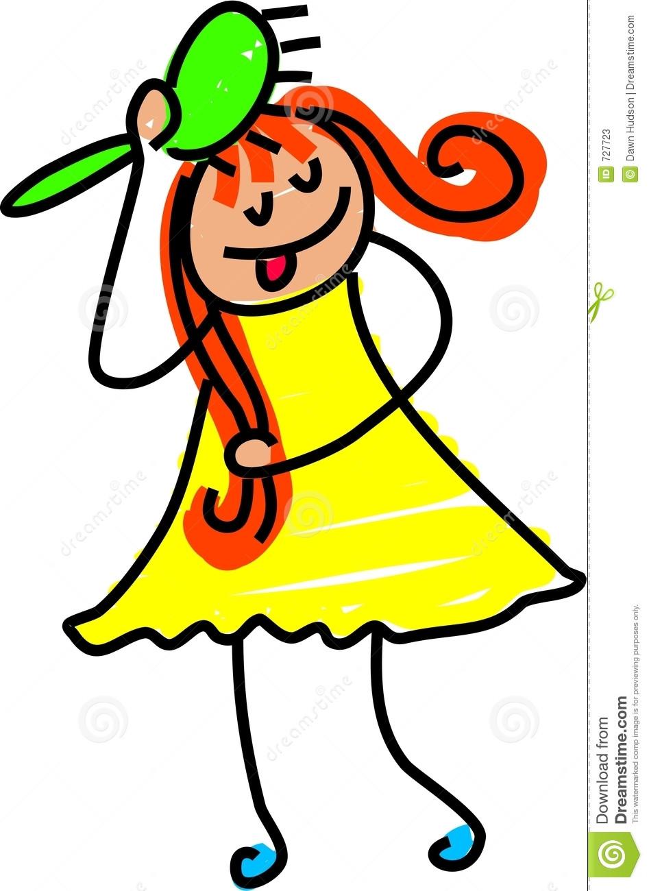 947x1300 Brushing Hair Clipart Hairbrush Girl 727723 In Brush Clip Art