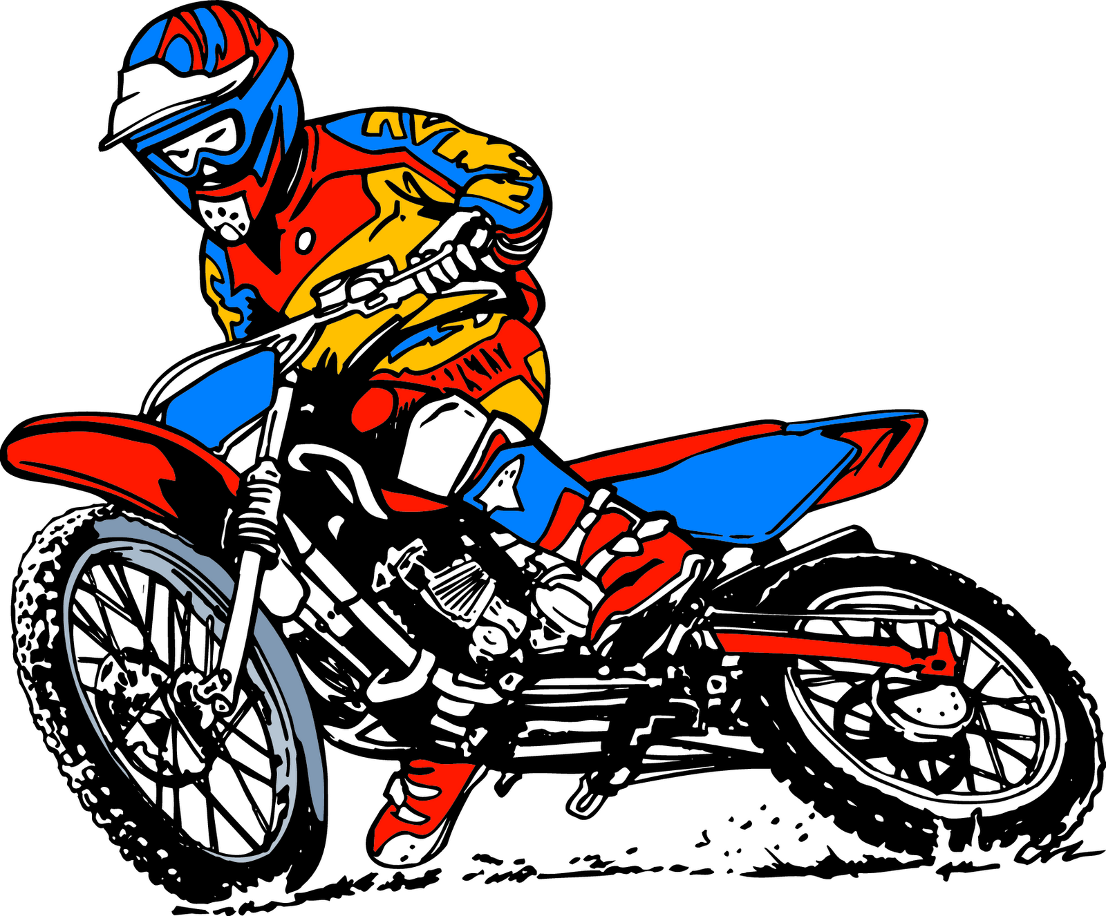 1600x1326 Cartoon Motorcycle Clipart