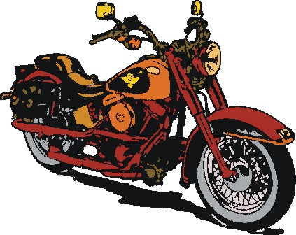 423x336 Harley Davidson Clip Art Free